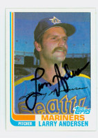 Larry Andersen AUTOGRAPH 1982 Topps #52 Mariners 
