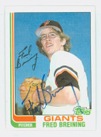 Fred Breining AUTOGRAPH 1982 Topps #144 Giants 
