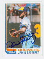 Jamie Easterly AUTOGRAPH 1982 Topps #122 Brewers 