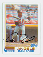 Dan Ford AUTOGRAPH 1982 Topps #134 Angels 