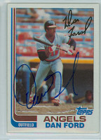 Dan Ford AUTOGRAPH 1982 Topps #134 Angels   [SKU:FordD6129_T82BBLE]