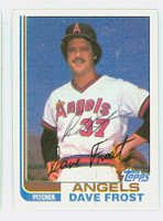 Dave Frost AUTOGRAPH 1982 Topps #24 Angels 