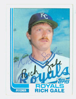 Rich Gale AUTOGRAPH 1982 Topps #67 Royals 