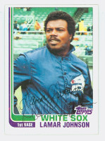 Lamar Johnson AUTOGRAPH 1982 Topps #13 White Sox 