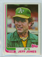 Jeff Jones AUTOGRAPH 1982 Topps #139 Athletics 