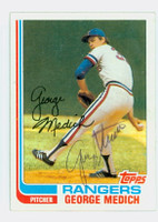 George Medich AUTOGRAPH 1982 Topps #78 Rangers 