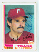 Mike Proly AUTOGRAPH 1982 Topps #183 Phillies   [SKU:ProlM7186_T82BB]