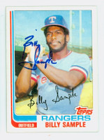 Billy Sample AUTOGRAPH 1982 Topps #112 Rangers 
