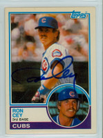 Ron Cey AUTOGRAPH 1983 Topps #19 Cubs TRADED   [SKU:CeyR3559_T83BBTRP]
