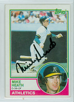 Mike Heath AUTOGRAPH 1983 Topps #23 Athletics 