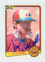 Tim Blackwell AUTOGRAPH 1983 Donruss #214 Expos 