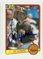 Joe Lefebvre AUTOGRAPH 1983 Donruss #523 Padres 