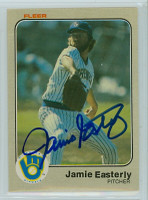 Jamie Easterly AUTOGRAPH 1983 Fleer #31 Brewers 
