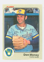 Don Money AUTOGRAPH 1983 Fleer #41 Brewers 