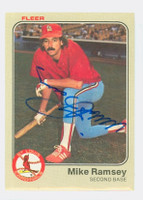 Mike Ramsey AUTOGRAPH 1983 Fleer #19 Cardinals 