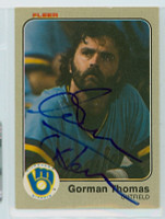 Gorman Thomas AUTOGRAPH 1983 Fleer #48 Brewers 