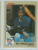 Ron Washington AUTOGRAPH 1983 Fleer #626 Twins 