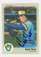 Ned Yost AUTOGRAPH 1983 Fleer #50 Brewers 