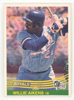 Willie Aikens AUTOGRAPH 1984 Donruss #155 Royals 
