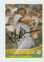 Gary Allenson AUTOGRAPH 1984 Donruss #335 Red Sox 