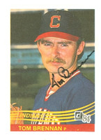 Tom Brennan AUTOGRAPH 1984 Donruss #102 Indians 