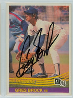 Greg Brock AUTOGRAPH 1984 Donruss #296 Dodgers 
