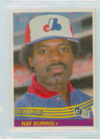 Ray Burris AUTOGRAPH 1984 Donruss #331 Expos 