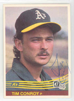 Tim Conroy AUTOGRAPH 1984 Donruss #340 Athletics 