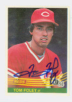 Tom Foley AUTOGRAPH 1984 Donruss #81 Expos 