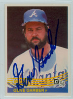 Gene Garber AUTOGRAPH 1984 Donruss #287 Braves 