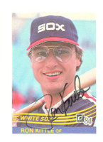 Ron Kittle AUTOGRAPH 1984 Donruss #244 White Sox 