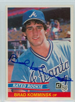 Brad Komminsk AUTOGRAPH 1984 Donruss #36 Braves 