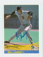 Bill Laskey AUTOGRAPH 1984 Donruss #358 Giants 