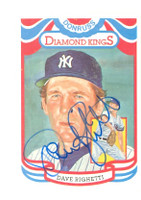 Dave Righetti AUTOGRAPH 1984 Donruss #10 Yankees Diamond King 