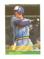 Ned Yost AUTOGRAPH 1984 Donruss #271 Brewers 