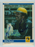 Mike Easler AUTOGRAPH 1984 Fleer #249 Pirates 