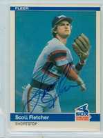 Scott Fletcher AUTOGRAPH 1984 Fleer #59 White Sox 