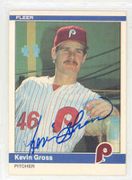 Kevin Gross AUTOGRAPH 1984 Fleer #32 Phillies 