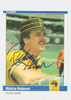 Richie Hebner AUTOGRAPH 1984 Fleer #251 Pirates 