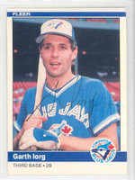 Garth Iorg AUTOGRAPH 1984 Fleer #157 Blue Jays 
