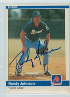 Randy Johnson AUTOGRAPH 1984 Fleer #183 Braves 