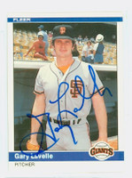 Gary Lavelle AUTOGRAPH 1984 Fleer #377 Giants 