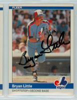 Bryan Little AUTOGRAPH 1984 Fleer #279 Expos 