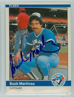 Buck Martinez AUTOGRAPH 1984 Fleer #161 Blue Jays 