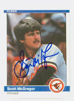 Scott McGregor AUTOGRAPH 1984 Fleer #13 Orioles 
