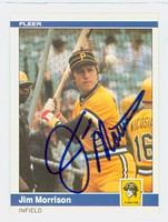 Jim Morrison AUTOGRAPH 1984 Fleer #257 Pirates 