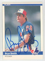 Bryn Smith AUTOGRAPH 1984 Fleer #287 Expos 