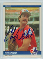 Chris Welsh AUTOGRAPH 1984 Fleer #292 Expos 