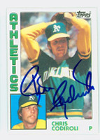 Chris Codiroli AUTOGRAPH 1984 Topps #61 Athletics 