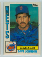 Dave Johnson AUTOGRAPH 1984 Topps #57 Mets TRADED 